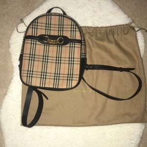 BNWT Authentic Burberry Vintage Link 1983 Backpack